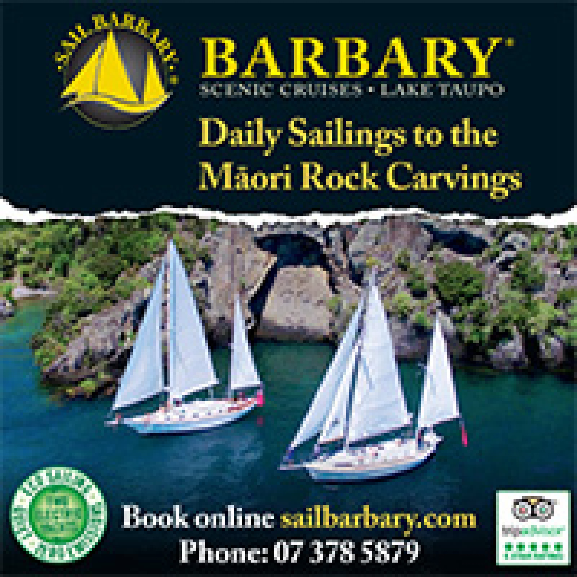 Barbary Scenic Cruises Lake Taupo
